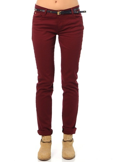 Limon Company Slim Fit Pantolon Bordo